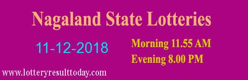 Nagaland State Lottery Dear Sincere Morning 11/12/2018 Result 11:55 AM