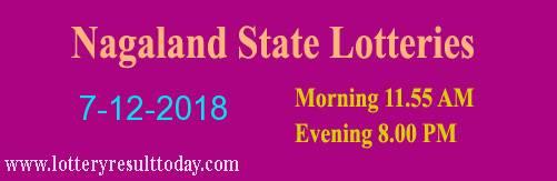 Nagaland State Lottery Dear Tender Morning 7/12/2018 ( 11.55 am)
