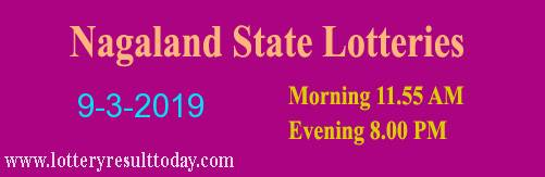 Nagaland State Lottery Dear Ostrich Evening Result 9/3/2019 (8.00pm)