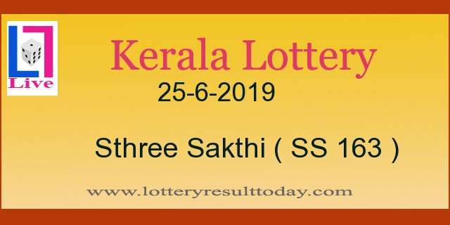 25.6.2019 Sthree Sakthi Lottery Result SS 163