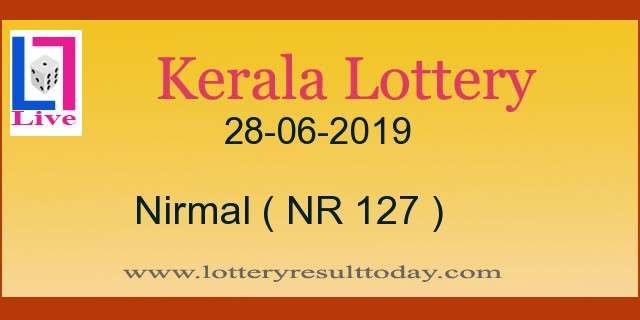 28-06-2019 Nirmal Lottery Result NR 127