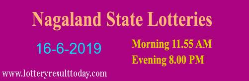 Nagaland Lottery Dear Affectionate 16/6/2019 Morning Result 11:55 AM