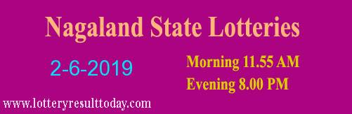 Nagaland Lottery Dear Affectionate 2/6/2019 Morning Result 11:55 AM