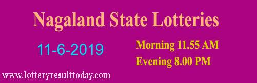 Nagaland Lottery Dear Sincere Morning 11/6/2019 Result 11:55 AM