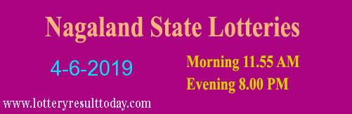Nagaland Lottery Dear Sincere Morning 4/6/2019 Result 11:55 AM
