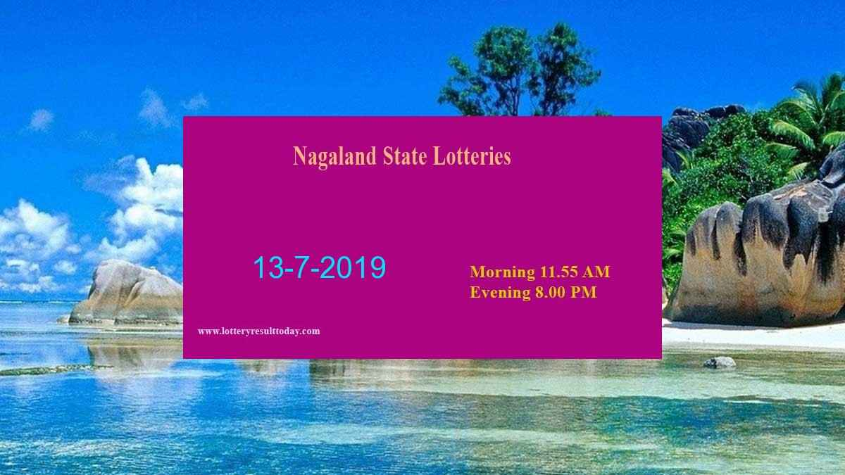 Nagaland Lottery Dear Gentle Morning Result 13/7/2019 (11.55 am)
