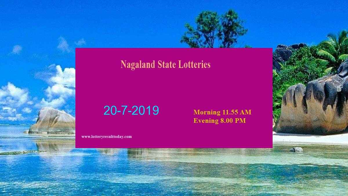 Nagaland Lottery Dear Gentle Morning Result 20/7/2019 (11.55 am)