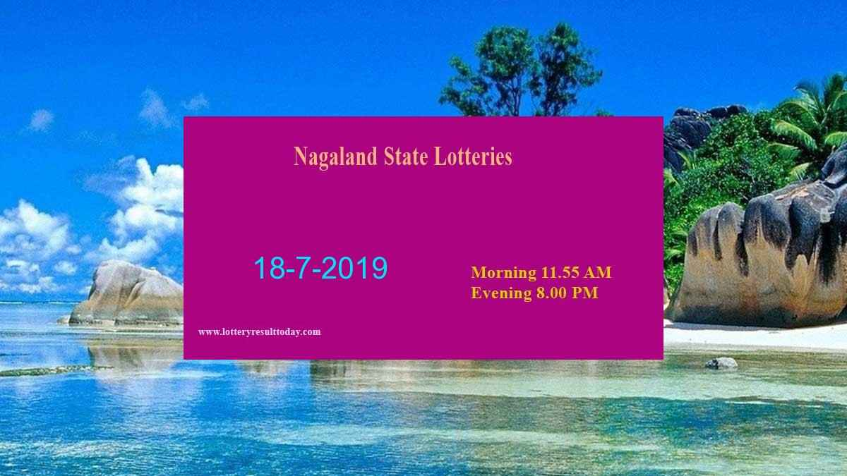 Nagaland Lottery Dear Kind Morning Result 18-7-2019 (11:55 AM)