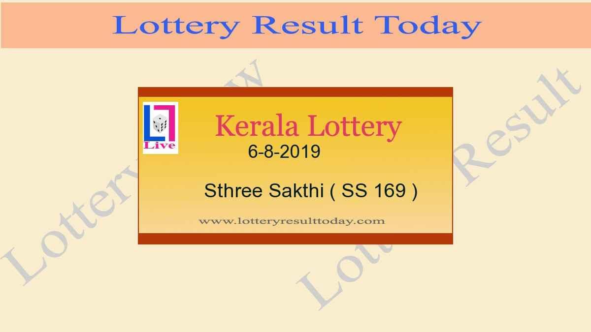 6.8.2019 Sthree Sakthi Lottery Result SS 169