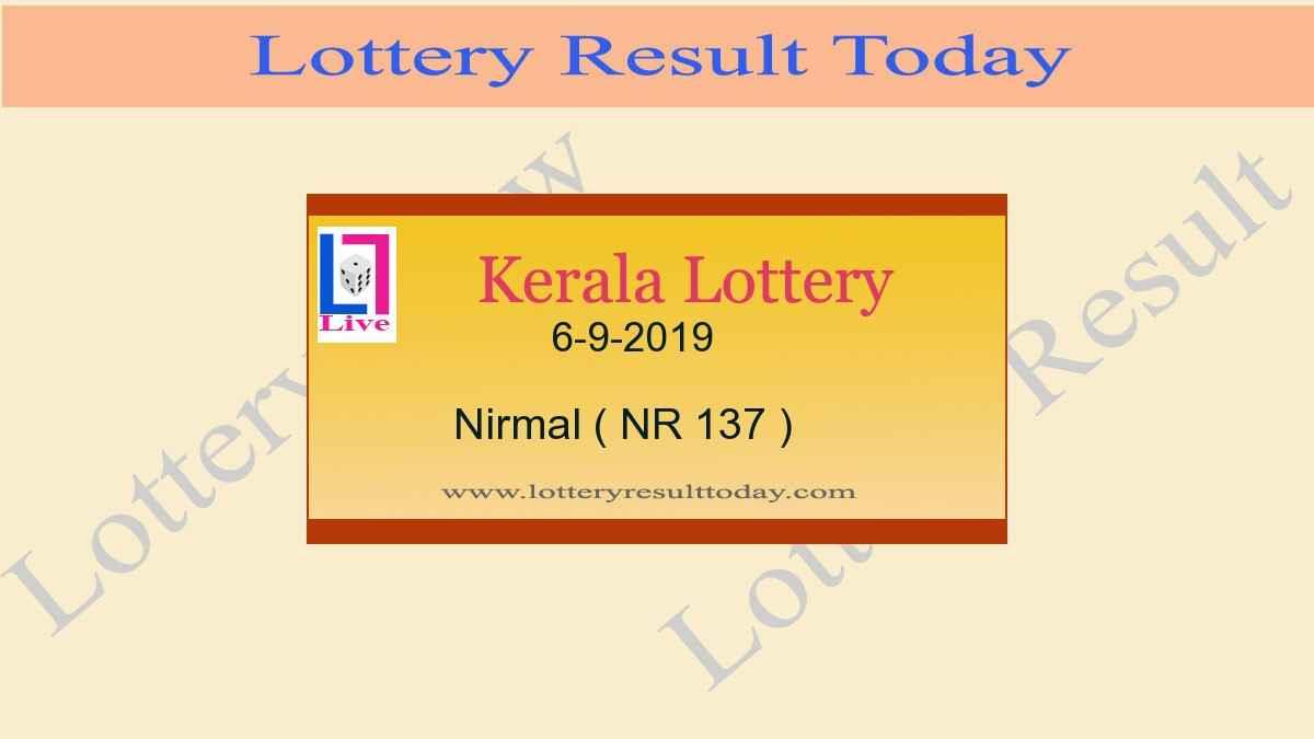 6-9-2019 Nirmal Lottery Result NR 137