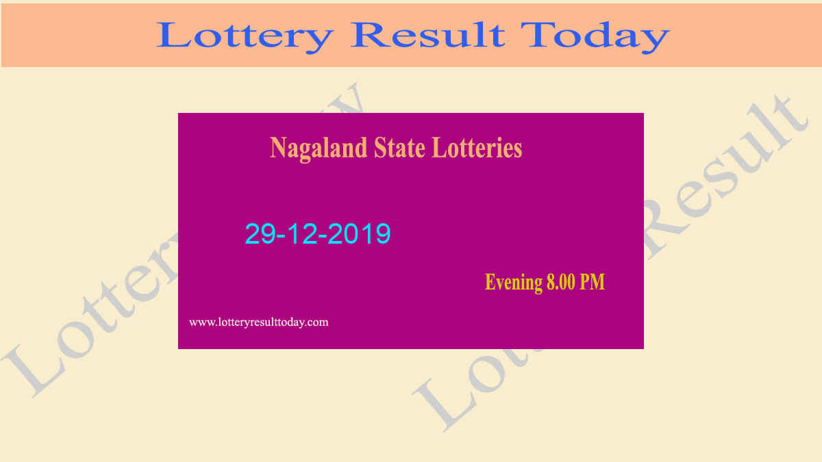 Nagaland State Lottery Dear Hawk 29.12.2019 Evening Result 8.00 PM