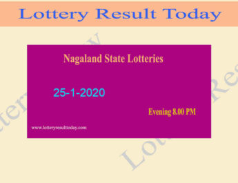 Nagaland State Lottery Dear Ostrich Result 25.1.2020 (8.00pm)