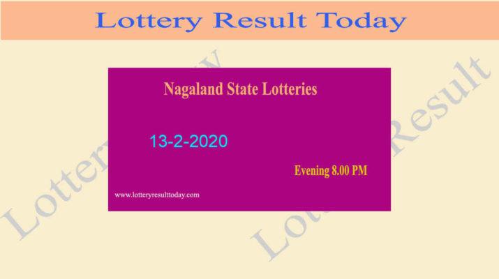 Nagaland Lottery Dear Falcon 13.2.2020 Result 8.00 PM - Lottery Sambad
