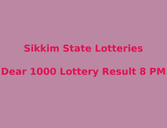 Sikkim Dear 1000 Lottery Result