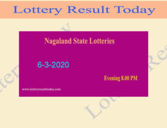Nagaland Lottery Dear Vulture Evening 6-3-2020 Result (8.00pm)