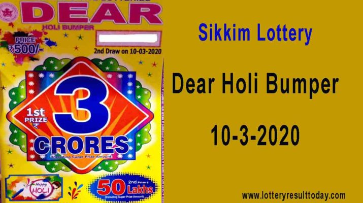 Sikkim holi bumper result today