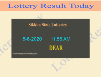 Sikkim State Lottery Dear Respect Result 8-6-2020 (11.55 AM)