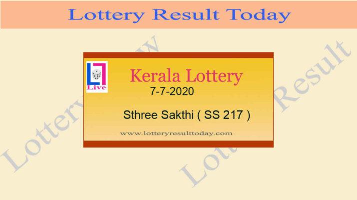 7-7-2020 Sthree Sakthi Lottery Result SS 217