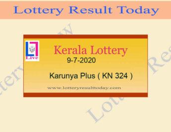 9-7-2020 Karunya Plus Lottery Result KN 324
