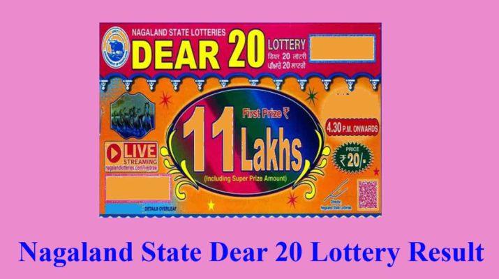 Nagaland Dear 20 Lottery Result