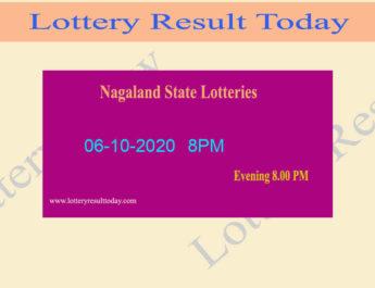 Nagaland State Lottery Sambad Result 06.10.2020 - Live @ 8PM