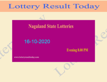 Nagaland State Lottery Sambad Result 16.10.2020 Live