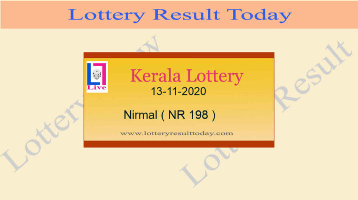 Nirmal NR 198 Lottery Result 13.11.2020 Live*