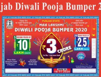 Punjab Diwali Pooja Bumper Lottery Result 2020