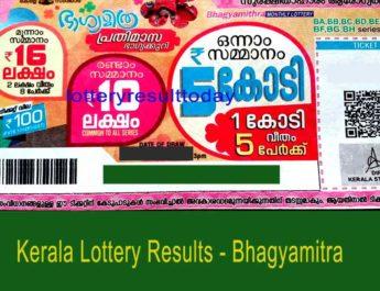 Kerala Lottery Bhagyamitra Monthly Result BM 2 3.1.2021