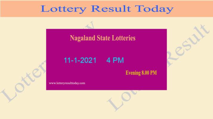 Nagaland State Lottery Sambad Result 11.1.2021 (4 PM) Live