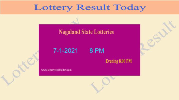 Nagaland State Lottery Sambad Result 7.1.2021 Live @ 8 PM