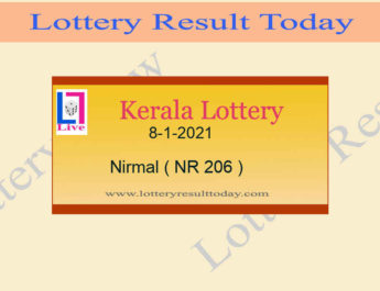 Nirmal NR 206 Lottery Result 8.1.2021 Live*