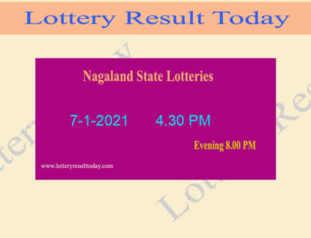 Sikkim State Lottery Dear 100 Result 7-1-2021 (4.30 PM)