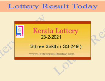 23-2-2021 Sthree Sakthi Lottery Result SS 249