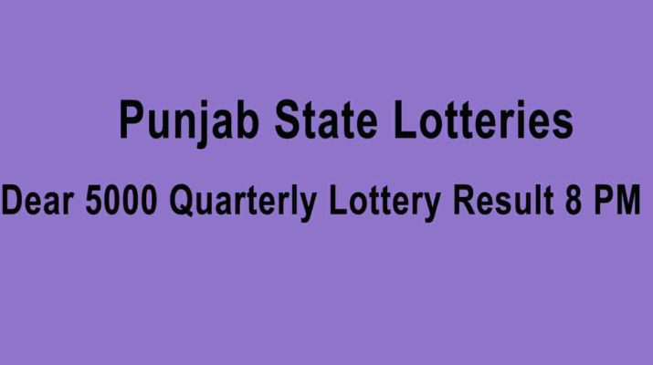 Punjab Dear 5000 Quarterly Lottery Result