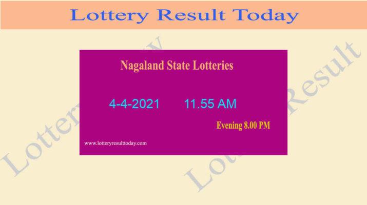 Nagaland State Lottery Sambad (11.55 AM) Result 4.4.2021 Live