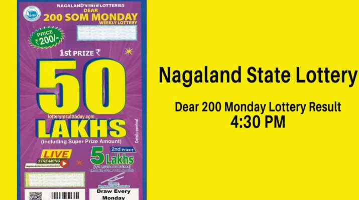 Nagaland State Dear 200 Monday Weekly Lottery Result 4.30 PM
