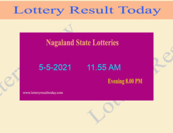Nagaland State Lottery Sambad (11.55 AM) Result 5.5.2021 Live