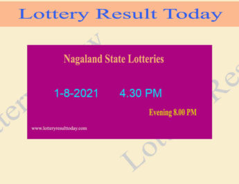 Nagaland Dear 200 Sunday Lottery Result 1.8.2021 (4.30 PM), Dear 200 Result*,4:30pm