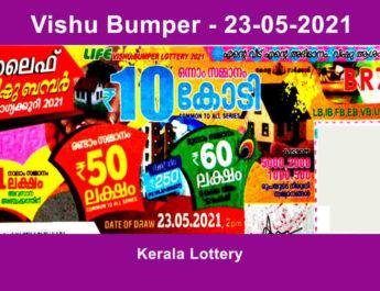 Vishu Bumper Lottery Result 2021 - BR 79