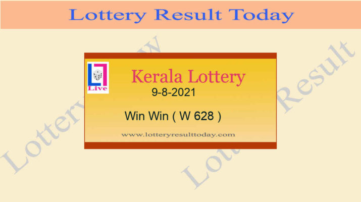 Kerala Lottery Win Win W 628 Result 9.8.2021 Live at 3PM