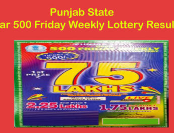 Punjab Dear 500 Friday Weekly Lottery Result Today