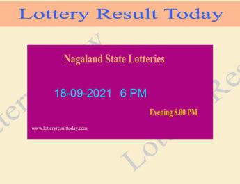 Lottery Sambad 6 PM Result 18.09.2021, Nagaland Day Lottery, 6pm