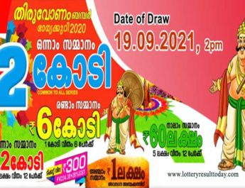 Kerala Onam Bumper BR 81 Lottery Result 19.9.2021